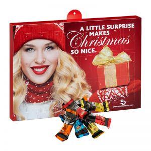 Lindt HELLO Mini Stick Adventskalender mit Werbedruck
