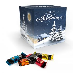 Lindt HELLO mini Sticks Adventswürfel aus 100 % Kartonage mit Logodruck