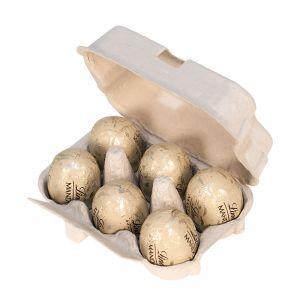 Lindt Mandorla 6er-Set in Eierverpackung mit Werbeanbringung