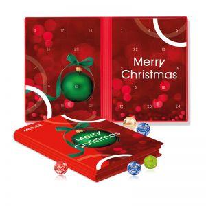 Lindt Minis Adventskalender Weihnachtsbuch mit Werbedruck