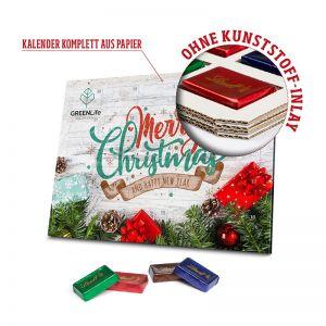 Lindt Naps Adventskalender aus 100 % Kartonage mit Logodruck