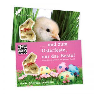 Lindt Promotion Card mit Goldhase und Logodruck