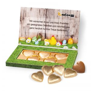Lindt Schokoherzen in Präsentbox Business mit Logodruck