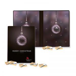 Lindt Täfelchen Adventskalender Weihnachtsbuch mit Werbedruck
