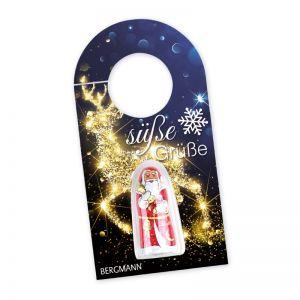 Lindt Weihnachtsmann auf Türanhänger mit Werbedruck