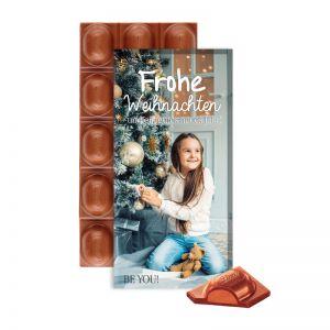 Lindt Weihnachtsschokolade in einer Werbekartonage mit Logodruck