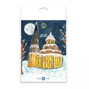 Lions Club Schokoladen Adventskalender mit Losnummern im Hochformat
