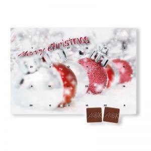 Logo-Schokoladen Tischkalender individuell bedruckt