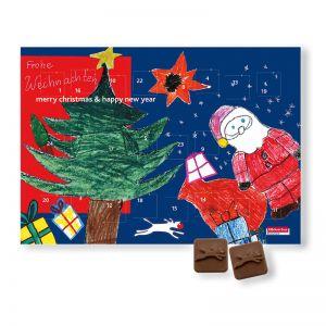 Logo-Schokoladen Wandkalender individuell bedruckt
