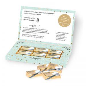 Mailing Präsentbox Lindt-Schokotäfelchen mit Werbedruck