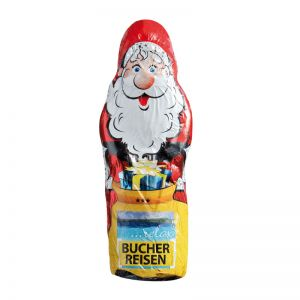 Maxi Schoko-Weihnachtsmann Hohlfigur mit Werbedruck