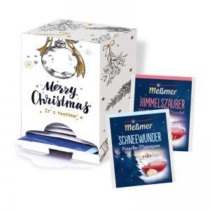 Meßmer Weihnachtstee im 14-Tage Dispenser mit Werbedruck