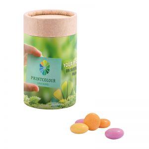 Midi Papierdose Mentos Fruit mit Papieretikett und Logodruck
