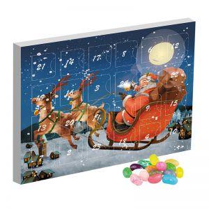 Mini Adventskalender mit Jelly Beans Süß-Mix und Werbedruck