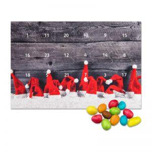 Mini Adventskalender mit Schoko-Erdnüssen und Werbedruck