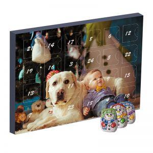 Mini Adventskalender Schoko-Schneemänner mit Werbedruck
