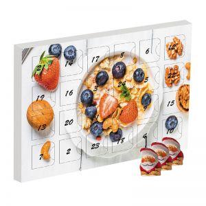 Mini Adventskalender Schoko-Weihnachtswichteln mit Werbedruck