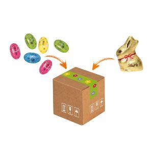 Mini-Cargo Lindt Ostern mit Werbeanbringung
