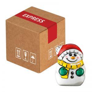 Mini-Cargo Schoko-Schneemänner mit Werbeanbringung