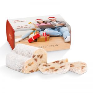 Mini Christstollen 80 g in Werbekartonage