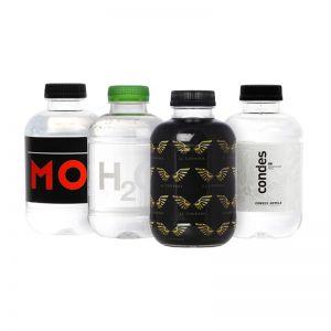 Mini-Wasserflaschen mit Logodruck