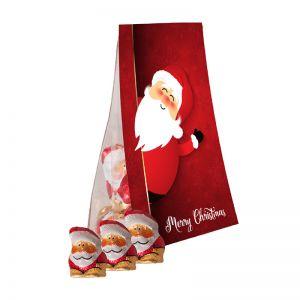 Mini-Weihnachtswichtel im Standbeutel mit Werbereiter
