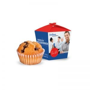 Muffin Mini in der Promotion-Box mit Logodruck
