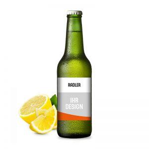 Naturradler Biermischgetränk mit Werbeeetikett