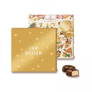 Niederegger Adventskalender Mini Wichtelwerkstatt mit Werbedruck