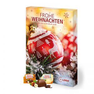 Organic Adventskalender Ferrero Küsschen Hoch- oder Querformat mit Werbedruck