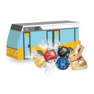 Oster Bus Lindt Schokoladenmischung mit Werbedruck