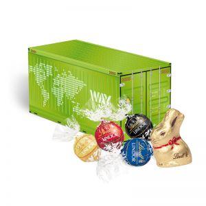 Oster Container Lindt Schokoladenmischung mit Logodruck