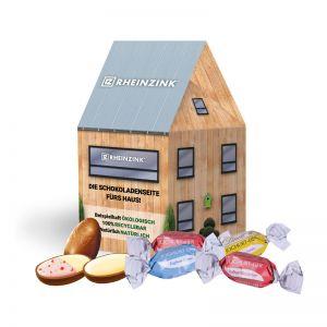 Oster Häuschen Lindt Joghurt-Eier mit Werbebedruckung