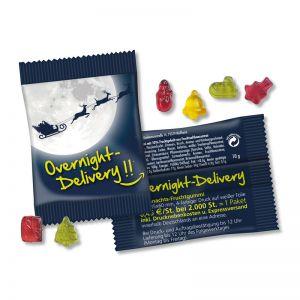 Overnight Premium Weihnachtsbärchen mit Werbedruck