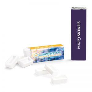 Pfefferminzriegel zuckerfrei im Alu-Papier-Verbund mit Logodruck