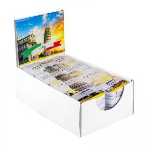 POS Midi Displaybox mit 32 Pfefferminzdosen und Werbeetikett