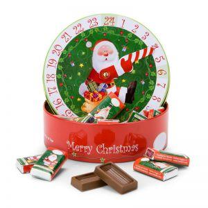 Präsent Adventskalender-Uhr mit Schokolade