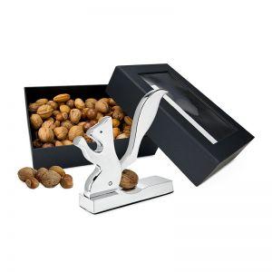 Präsent Eichhörnchen-Nussknacker mit Nüssen