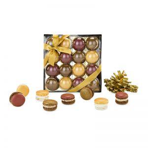 Präsent Goldene Macarons