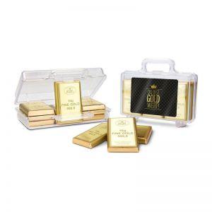 Präsent Goldkoffer Du bist Gold-Wert
