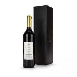 Präsent Rotwein im schwarzen Geschenkkarton