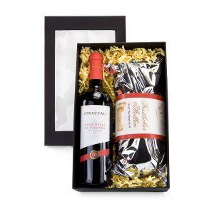 Präsent Rotwein und Stollen