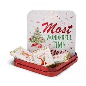 Präsent Schokoladendose Weiße Weihnacht