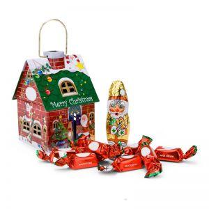Präsent Schokoladenhäuschen Merry Christmas