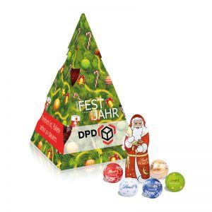 Präsent Weihnachtsbaum Lindt mit Werbedruck