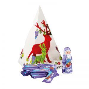 Präsent Weihnachtsbaum Milka mit Werbedruck