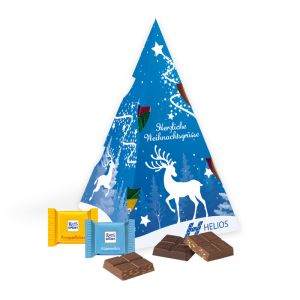 Präsent Weihnachtsbaum Ritter SPORT mit Werbedruck