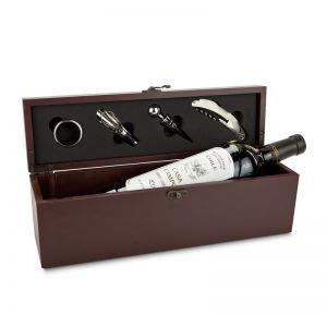 Präsent Weinaccesoire-Kiste