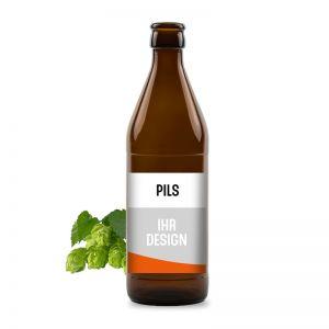 Premium-Bier mit Werbeeetikett