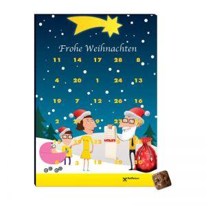 Promotion Adventskalender A4 mit 30 Türchen mit Logodruck